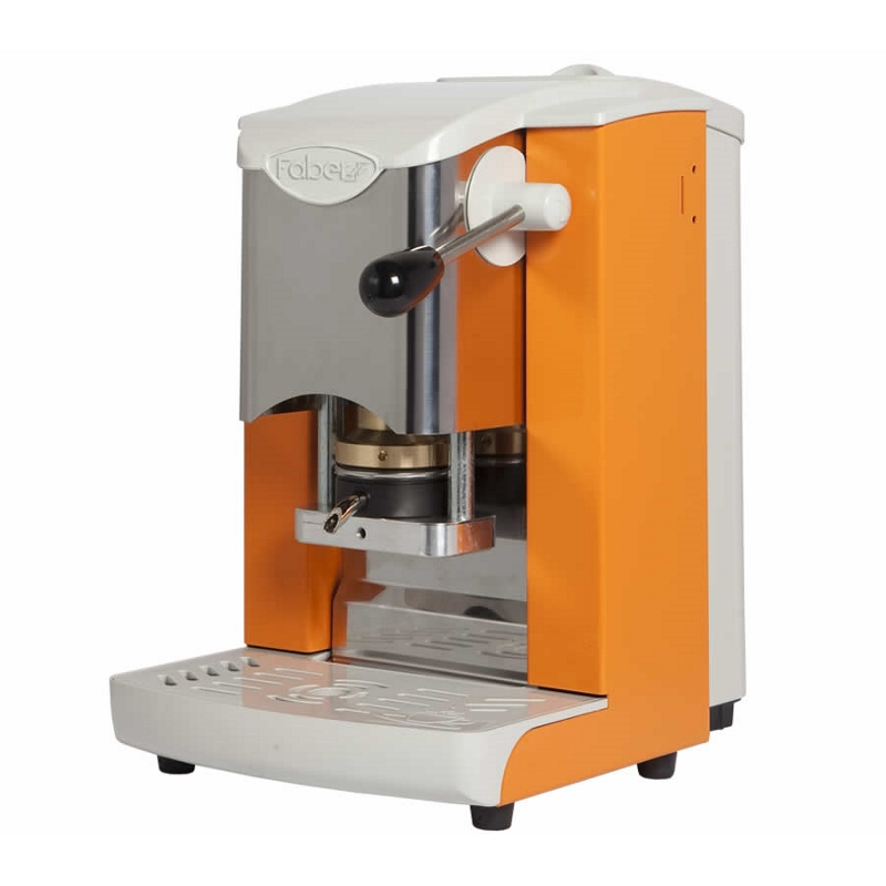 ΜΗΧΑΝΗ ESPRESSO FABER SLOT INOX ORANGE-GRAY PLASTICS